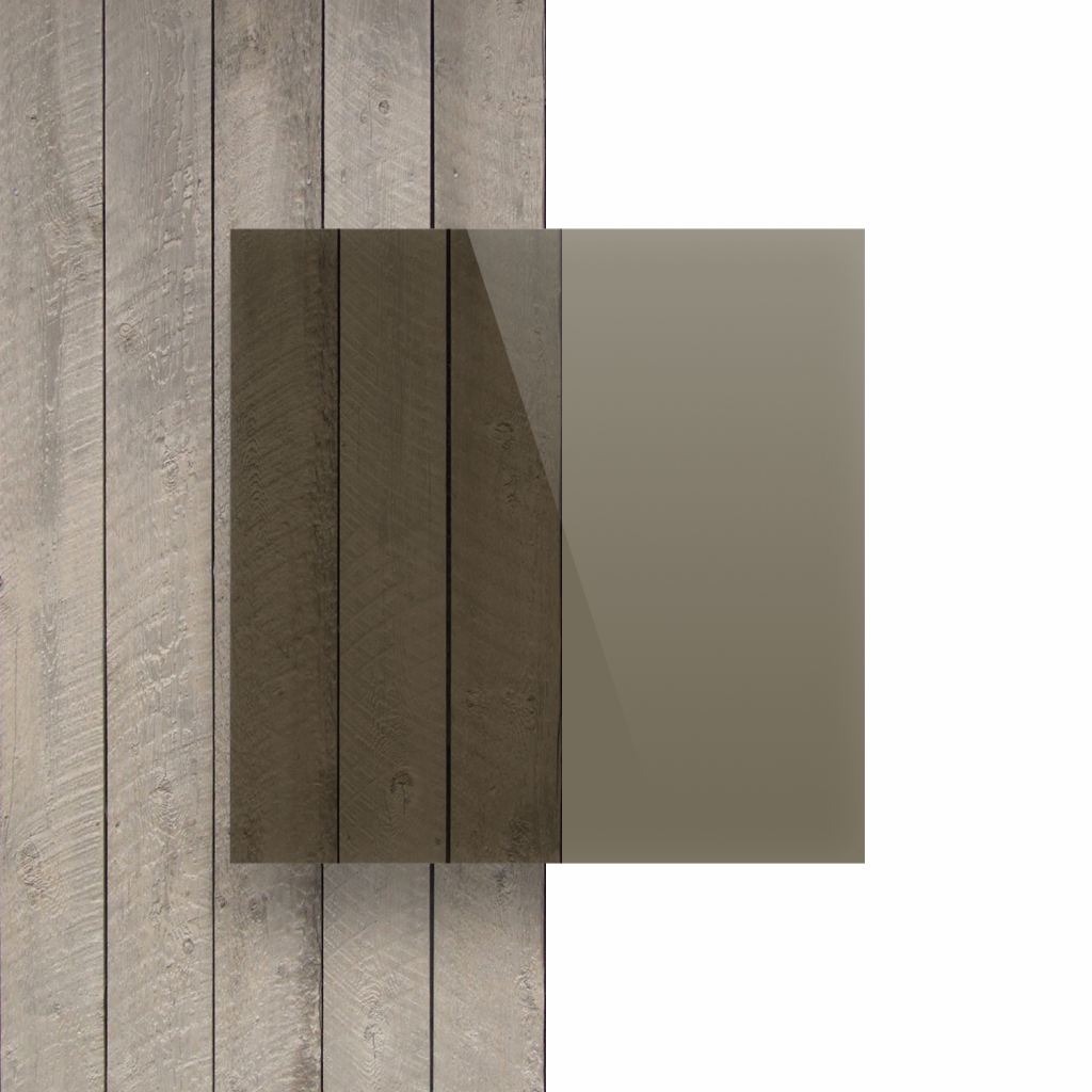 Voorkant plexiglas getint bruin