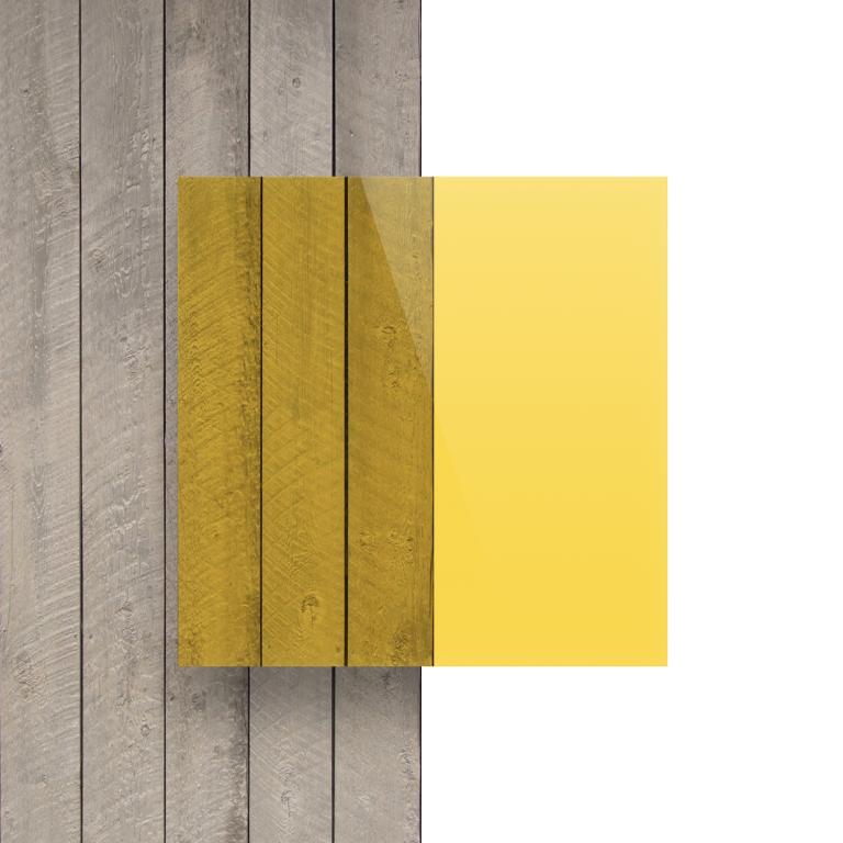 Voorkant plexiglas getint geel