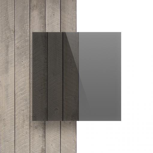 Voorkant plexiglas getint grijs