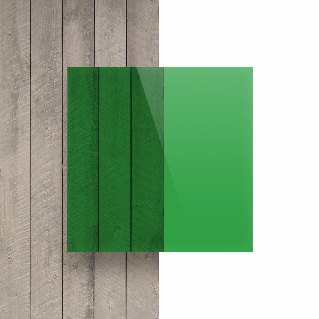 Voorkant plexiglas getint groen
