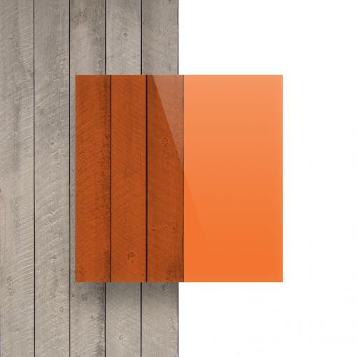 Voorkant plexiglas getint oranje