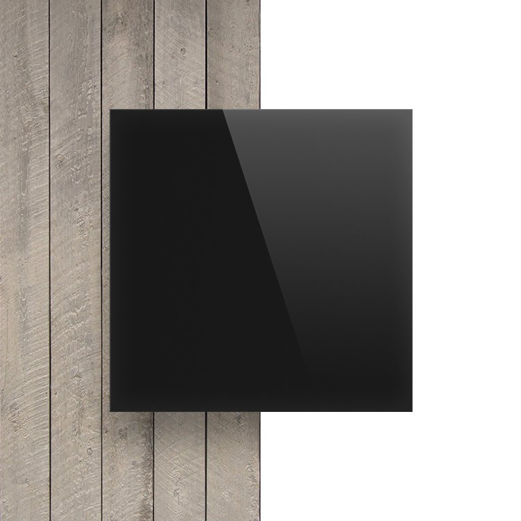 Voorkant plexiglas opaal zwart
