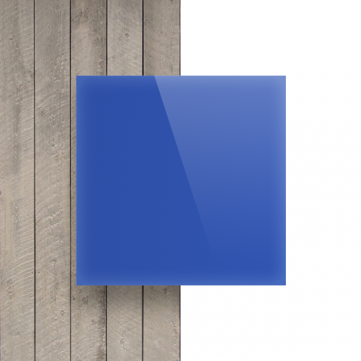 Voorkant plexiglas opaalblauw