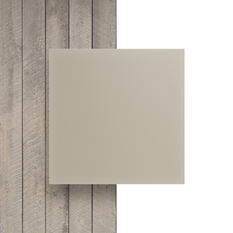 Voorkant plexiglas satijn creme mat