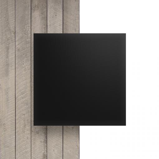 Voorkant plexiglas satijn ebony mat