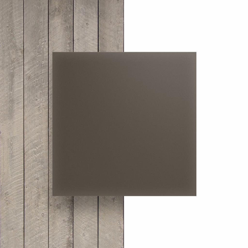 Voorkant plexiglas satijn klei mat