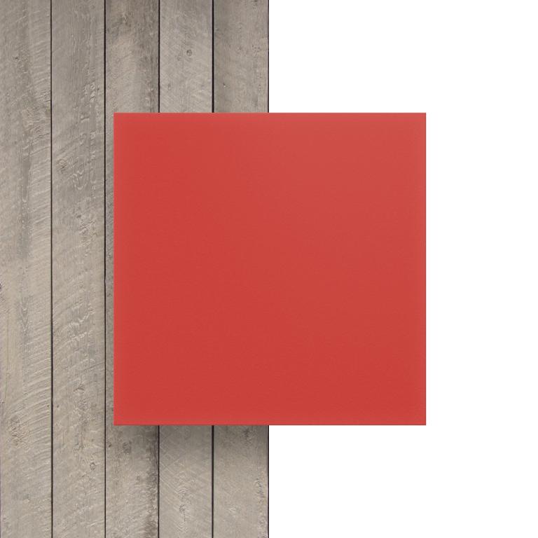 Voorkant geschuimd PVC rood
