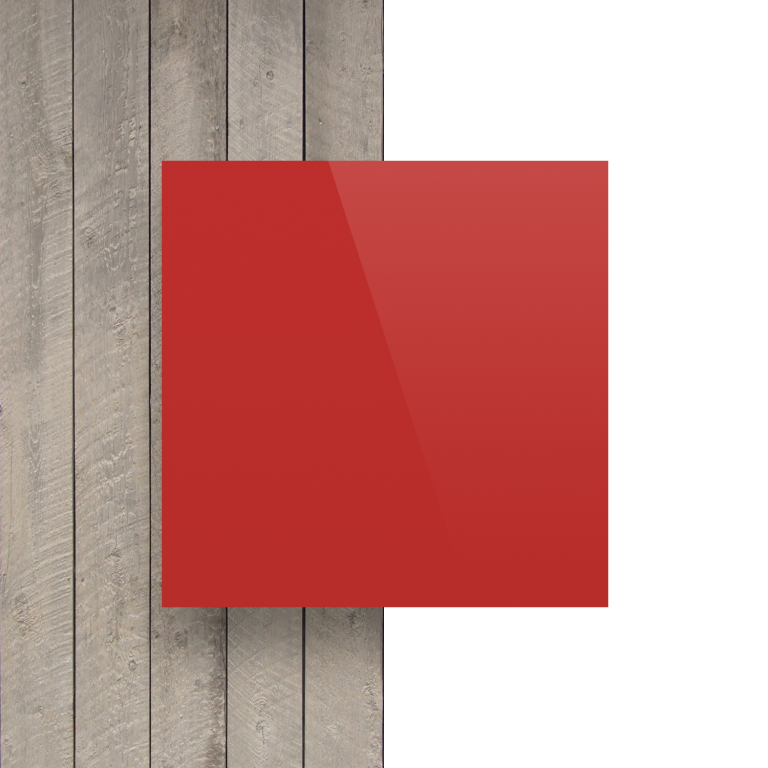 Voorkant alupanel rood