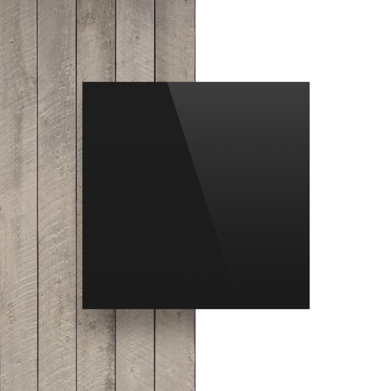 Voorkant alupanel zwart