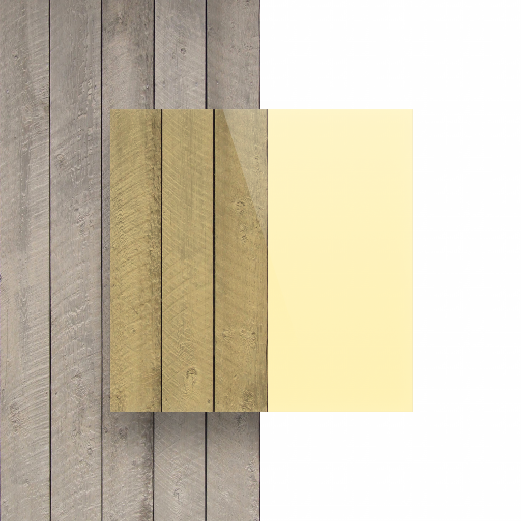 Voorkant plexiglas fluor geel