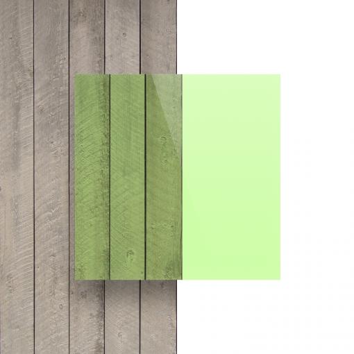 Voorkant plexiglas fluor groen