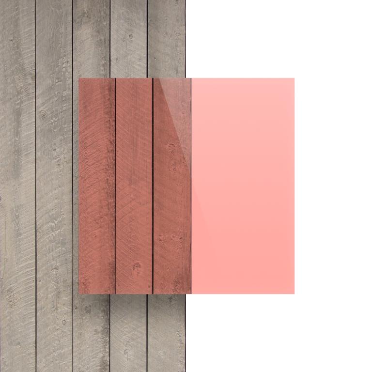 Voorkant plexiglas fluor rood