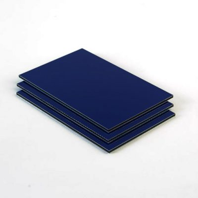 Dibond aluminium sandwichplaat donkerblauw mat glans