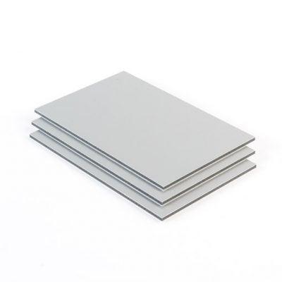 Dibond aluminium sandwichplaat zilver
