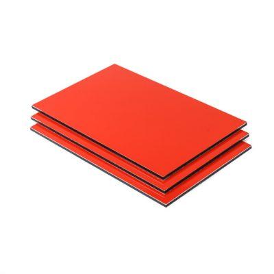Dibond aluminium sandwichplaat rood