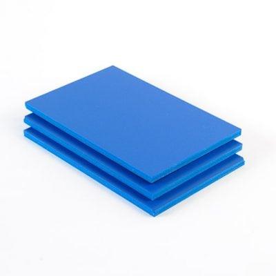 Geschuimd PVC plaat blauw
