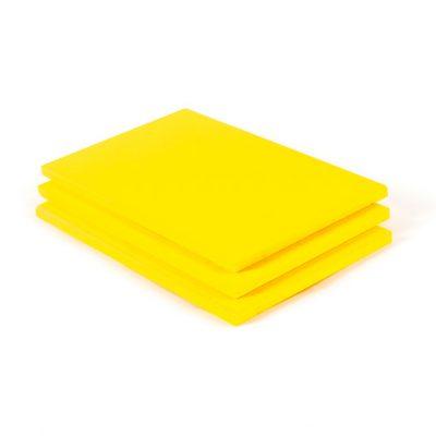 Geschuimd PVC plaat donkergeel
