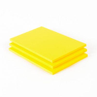 Geschuimd PVC plaat geel