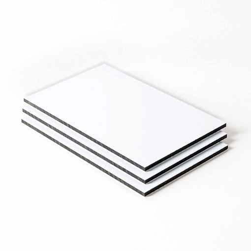 Dibond aluminium sandwichplaat wit