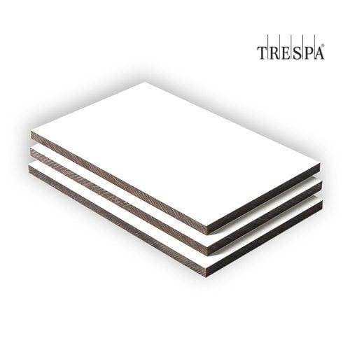 trespa hpl plaat 8 mm wit gratis op maat gezaagd. Black Bedroom Furniture Sets. Home Design Ideas