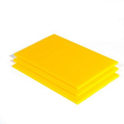 geel plexiglas plaat