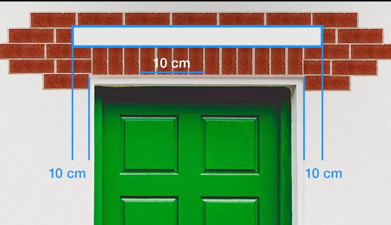 Deurluifel maken - afstanden muurplaat