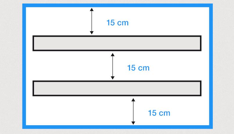 lichtbak maken positionering armaturen
