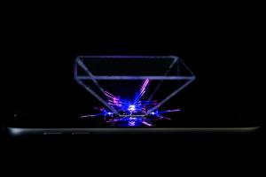 Hologram maken van Plexiglas