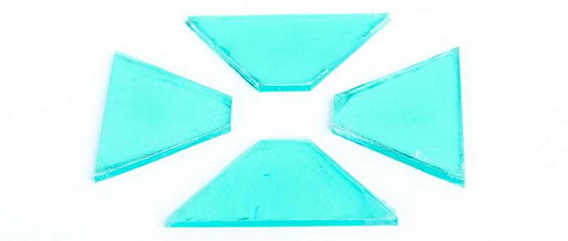Hologram maken van Plexiglas - Plexiglas uitsneden