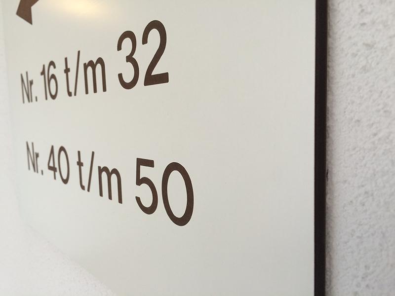 Trespa frezen huisnummers
