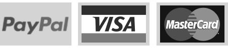 Veilig betalen bij Kunststofplatenshop met PayPal, VISA en Mastercard