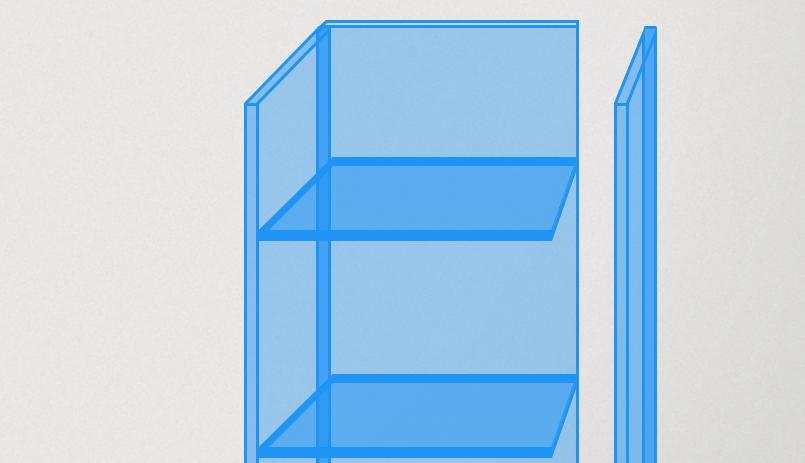 Plexiglas vitrinekast maken zijkant