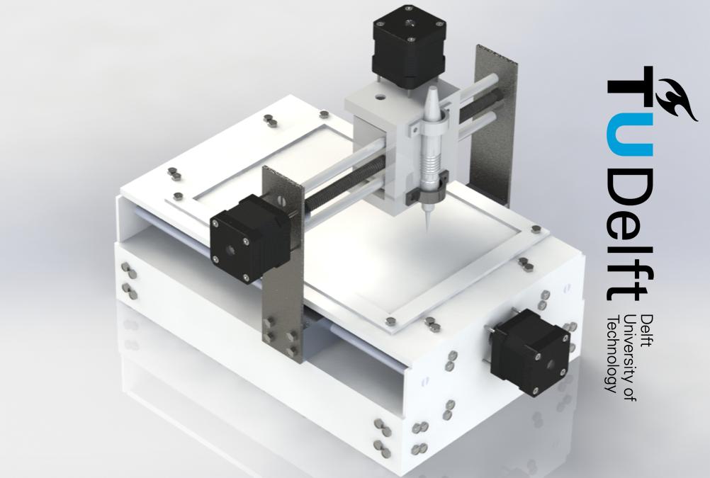Studenten TU Delft bouwen zelf een CNC-graveermachine