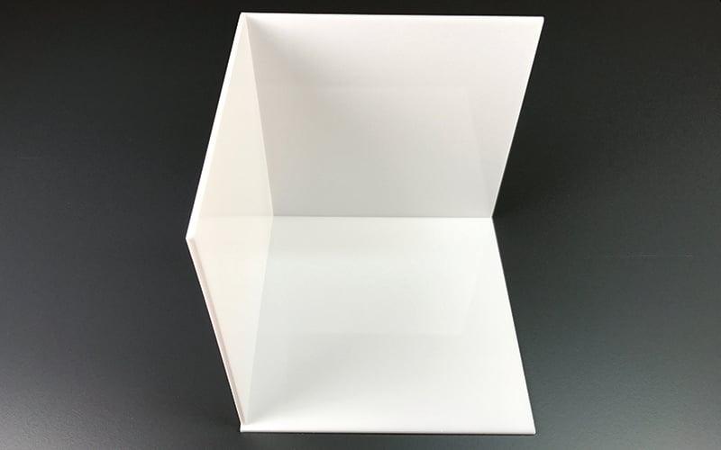 Lichtkubus maken van plexiglas binnenkant