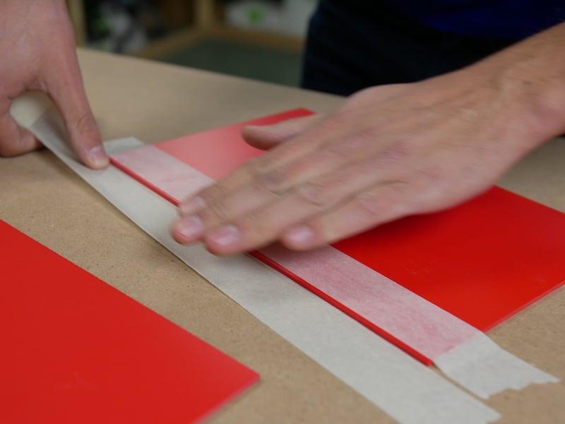 PVC verlijmen voorbereiding