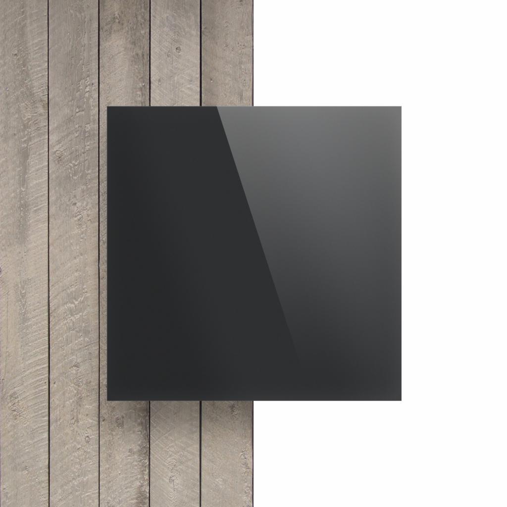 Voorkant plexiglas spiegel antraciet