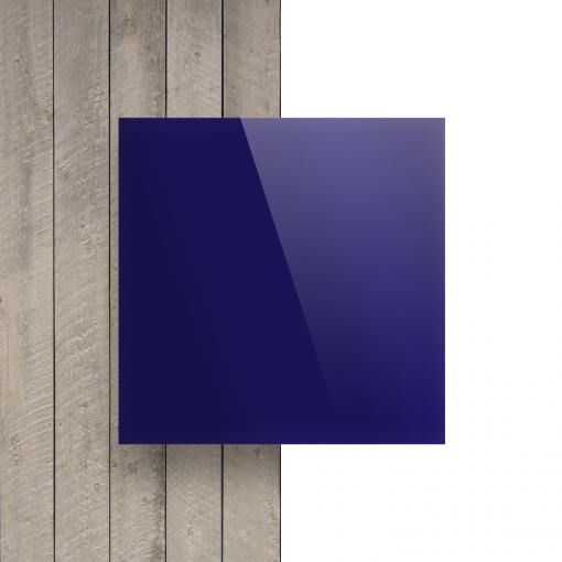 Voorkant plexiglas spiegel blauw