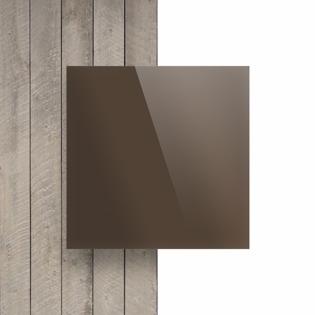 Voorkant plexiglas spiegel brons