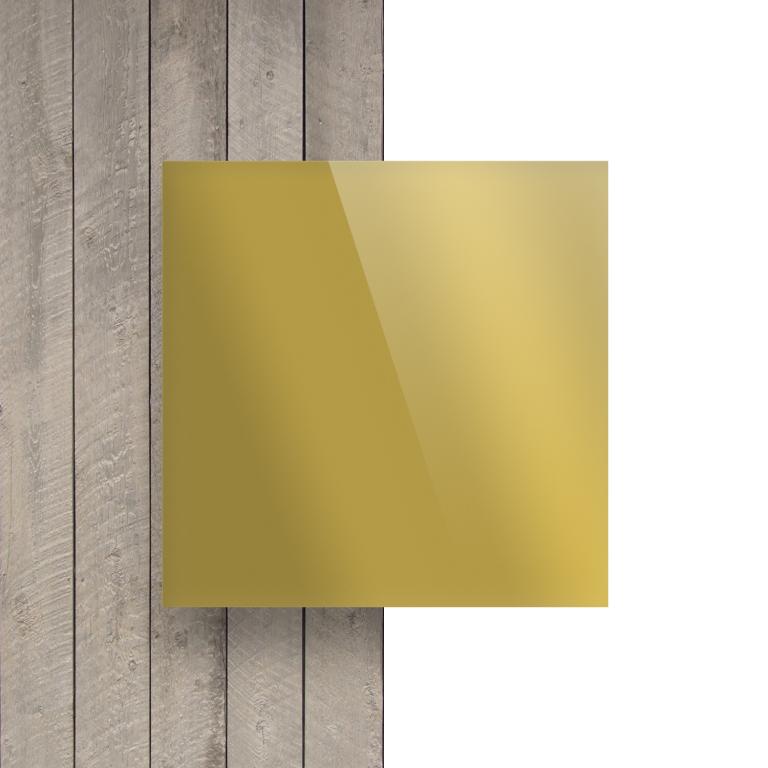 Voorkant plexiglas spiegel goud