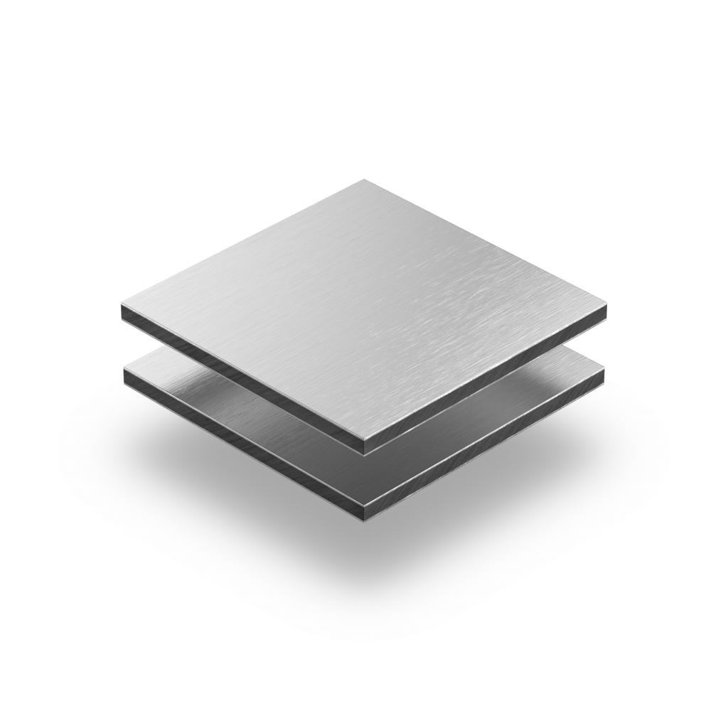 Alupanel aluminium geborsteld