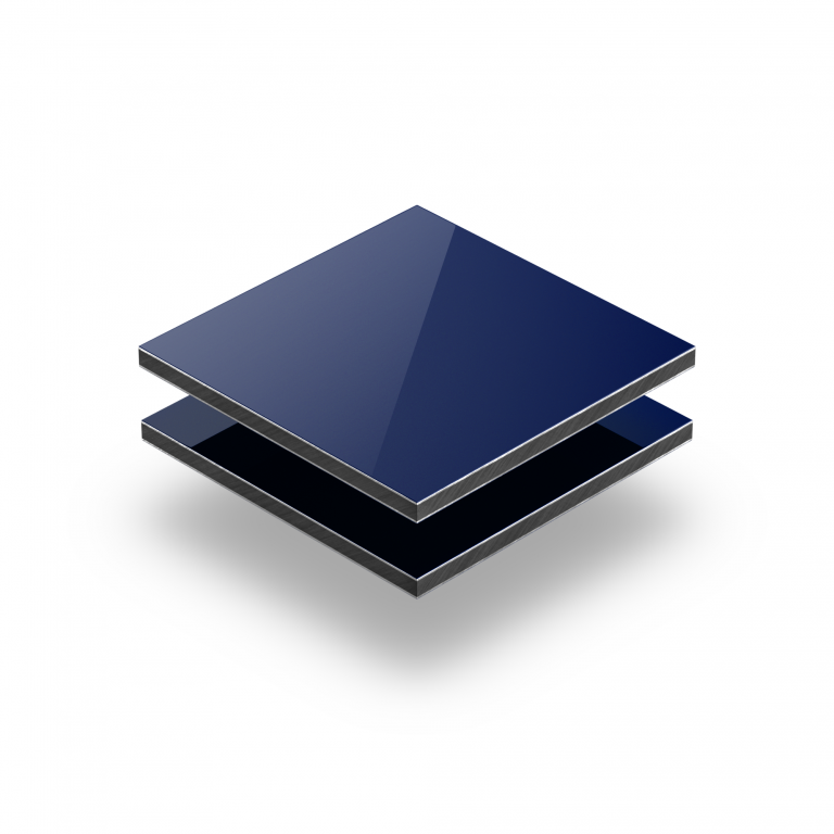 Alupanel blauw RAL 5002