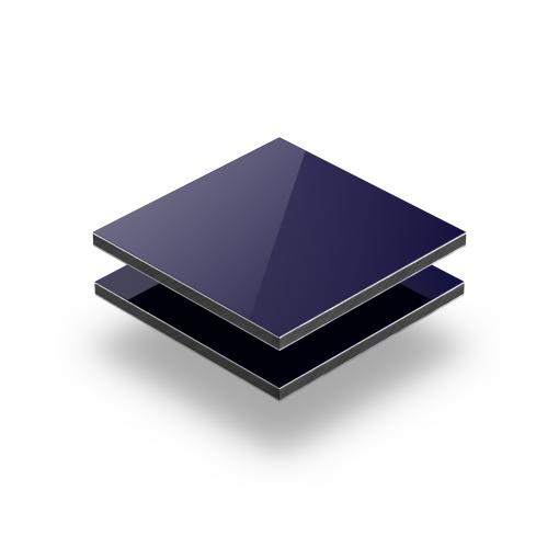 Alupanel donkerblauw RAL 5022