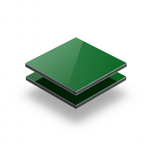 Alupanel groen RAL 6024