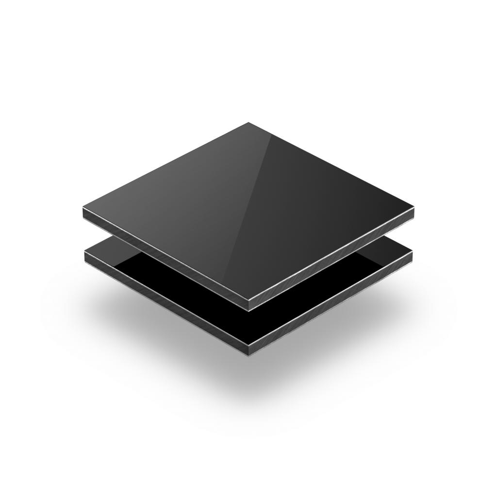 Alupanel aluminium sandwich plaat zwart