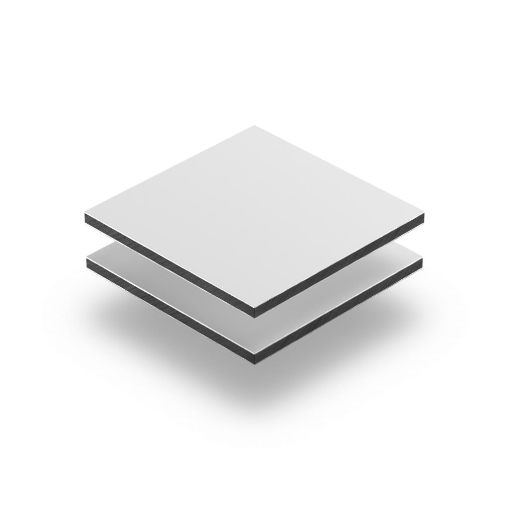 Dibond aluminium sandwich plaat wit mat