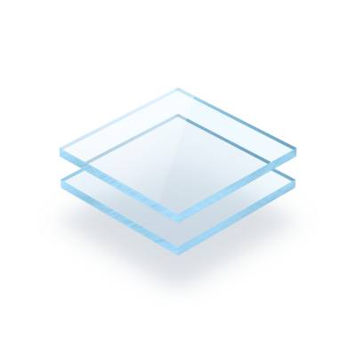 Plexiglas fluor blauw