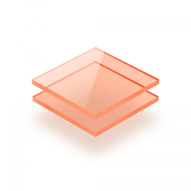 Plexiglas fluor oranje