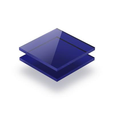 Plexiglas getint blauw
