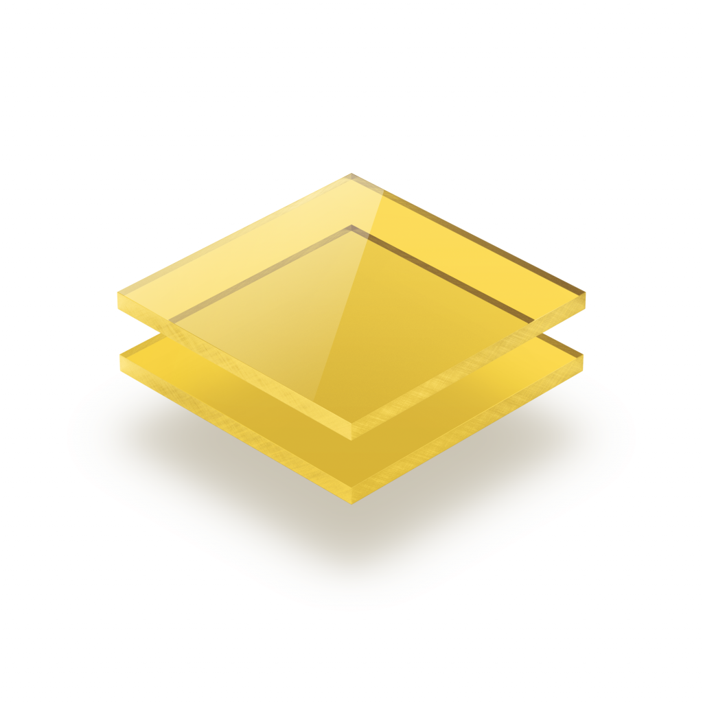 Plexiglas getint geel