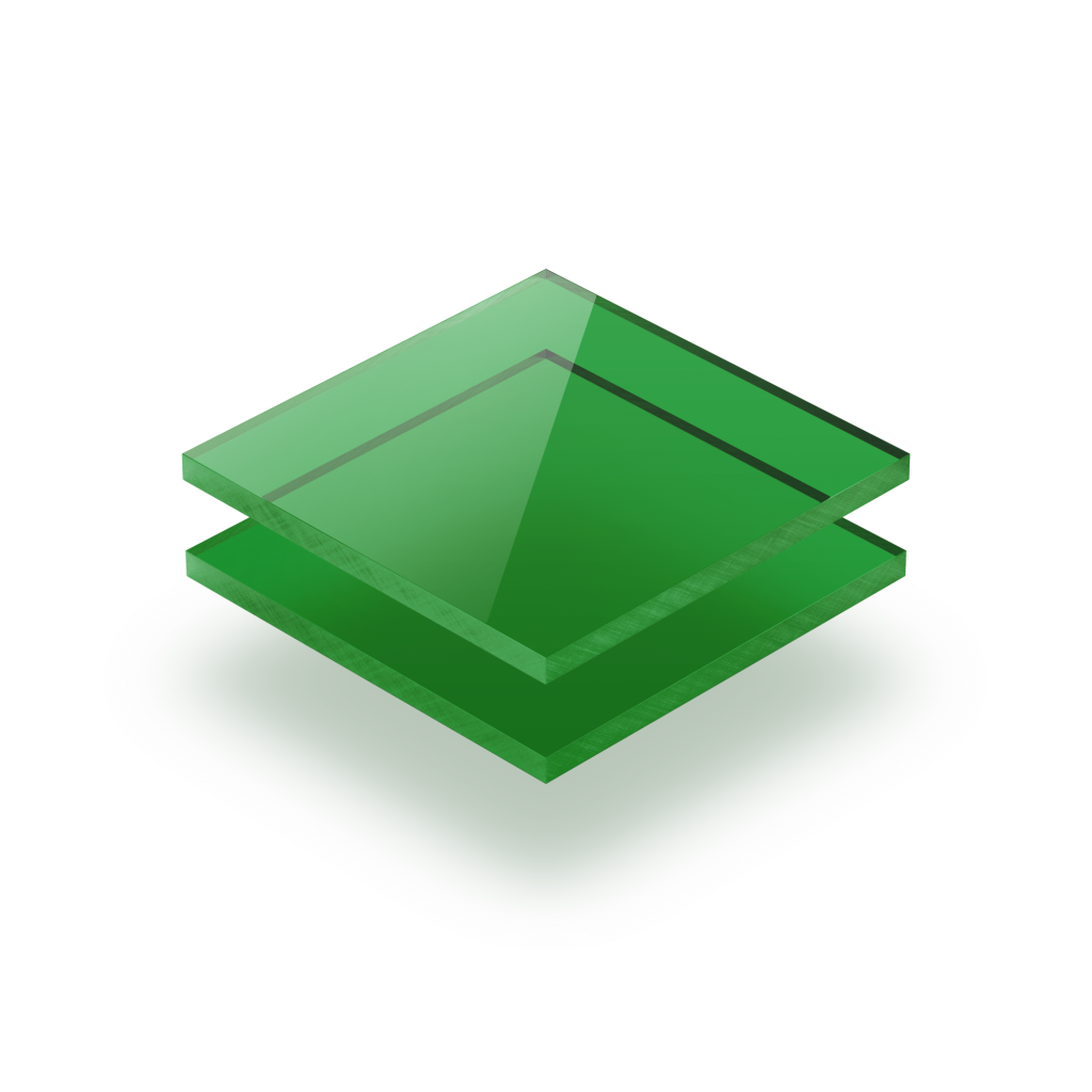 Plexiglas getint groen